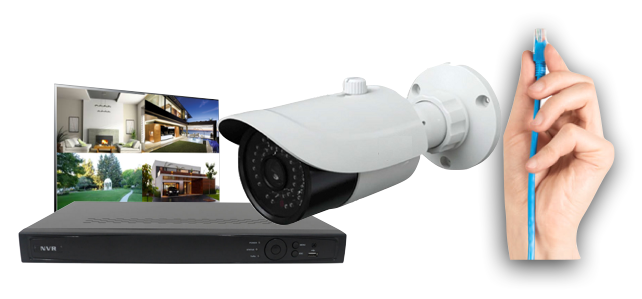 CCTV Corp Single Cable Installation