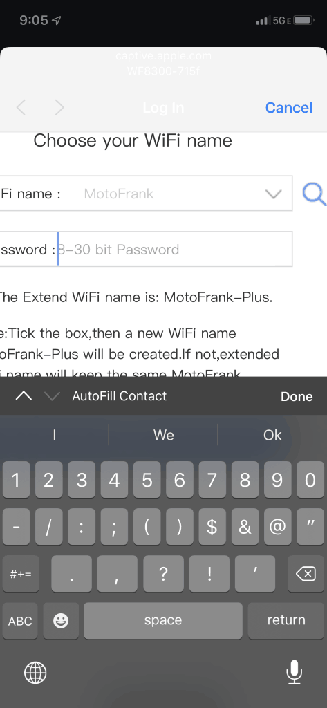 "4. Select your existing home network or network you would like to expand. (for this example, ""MotoFrank"" is my existing network)"