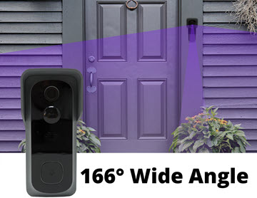 megapixall video doorbell wide angle lens