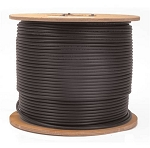 1000 FT Siamese RG59/18-2 Black cable