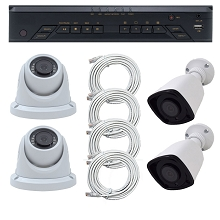 Complete MVIEW 4 Camera 2MP 1U NVR with POE Surveillance System (COPY)