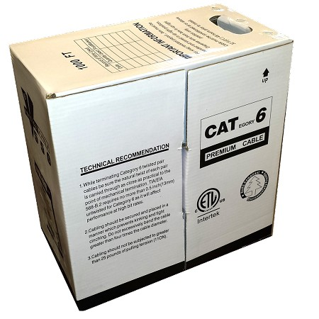 1000 FT Easy Pull Box Of CAT6 Cable
