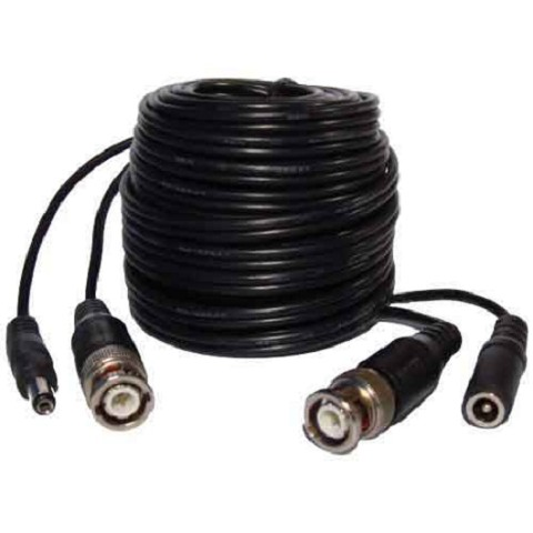 50 FT BNC Plug and Play Video and Power Cable